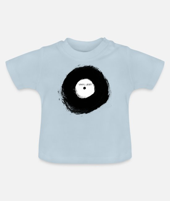Turn Table Baby T-Shirts - Vinyl is alive! - Baby T-Shirt light blue
