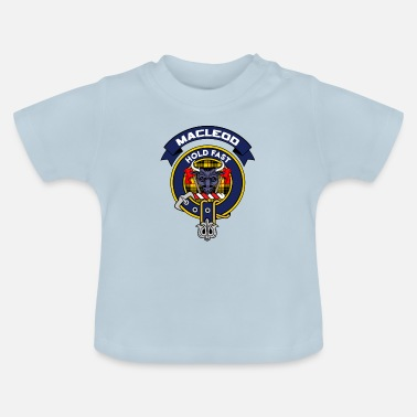 Crest MacLeod Scottish Clan Badge Tartan - T-shirt baby