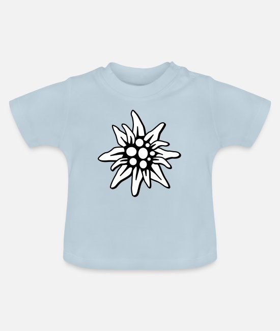 Heart Baby Clothes - Edelweiss - Baby T-Shirt light blue