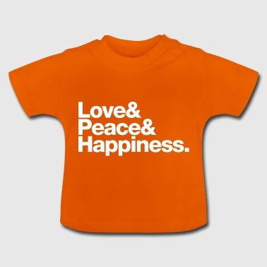 love peace happiness - Baby-T-skjorte