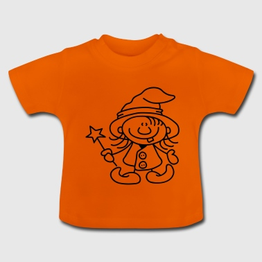 Little Witch with Hat and Wand - Baby T-shirt