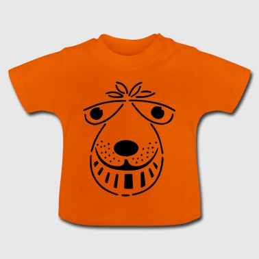 retro space hopper face - Baby T-Shirt