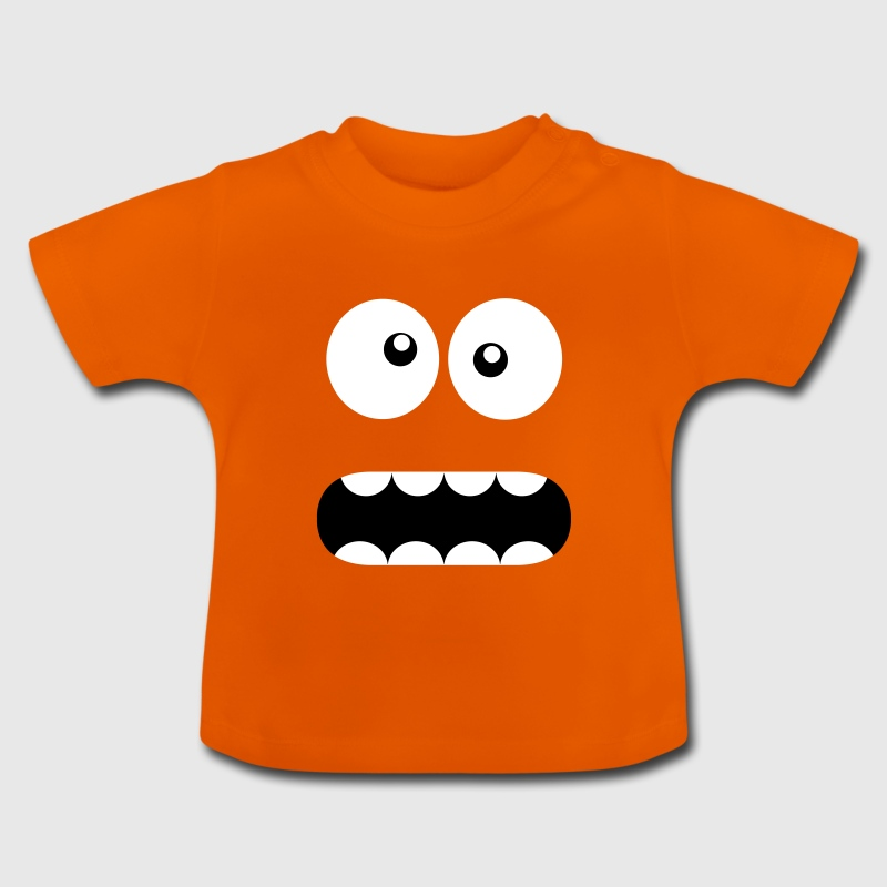 Funny Cartoon Monster Face - Crazy / Smiley - Camiseta bebé