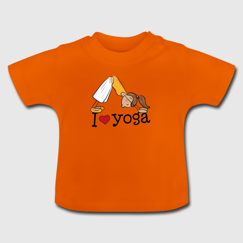 I love yoga - Girl practicing the dog - Baby T-Shirt