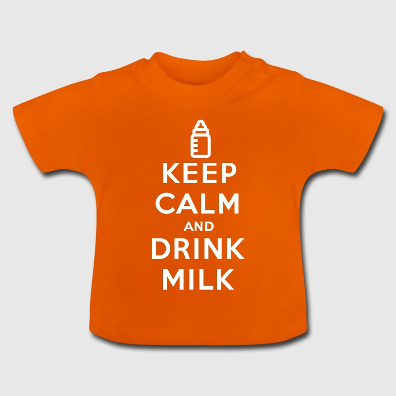 Keep calm and drink milk - Baby T-shirt