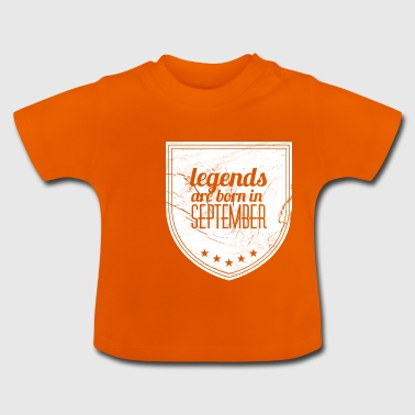 September legends verjaardagsspreuk - Baby T-shirt