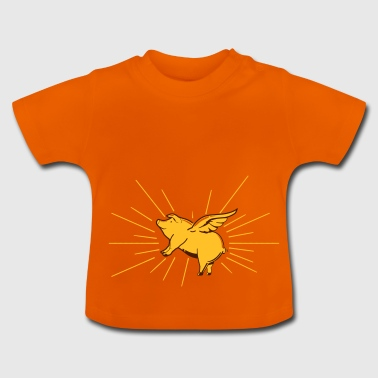 Flying pig - Baby T-Shirt