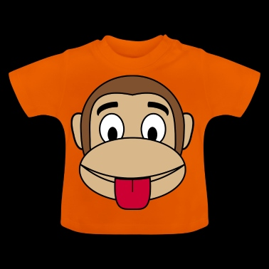 Monkey cheeky tongue stick out - Baby T-Shirt