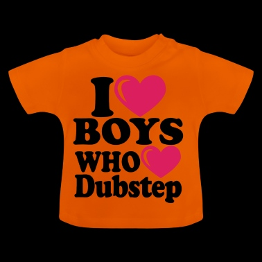 i heart boys dubstep - T-shirt Bébé