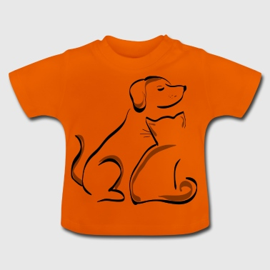 dog and cat - Baby T-Shirt