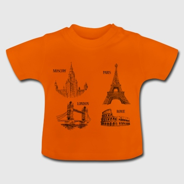 The 4 monuments of Europe - Baby T-Shirt