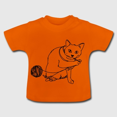 Playing cat - Baby T-Shirt