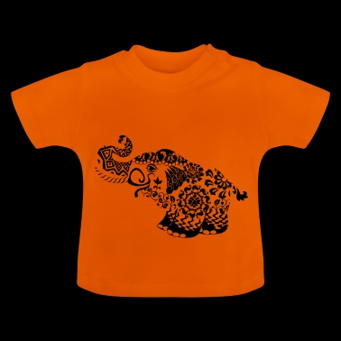 Artful elephant in the Goa style - Baby T-Shirt