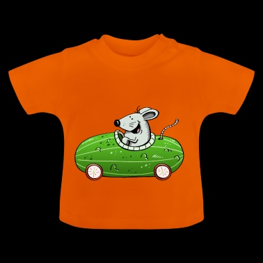 Mouse drives ne olle cucumber - car - cars - funny - Baby T-Shirt