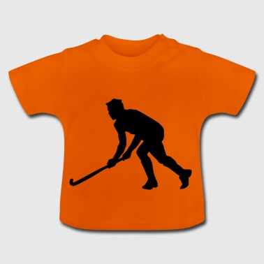 Hockey Field Silhouette Hockey - Baby T-shirt