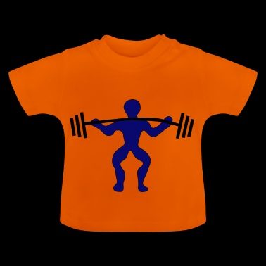 Weights lifting barbell shoulder - Baby T-Shirt
