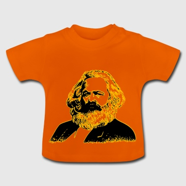 Karl Marx in black and yellow design gift idea - Baby T-Shirt