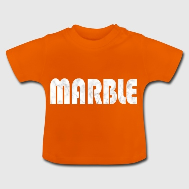 Marmor sten udseende ord Fashion mode gave idé - Baby T-shirt