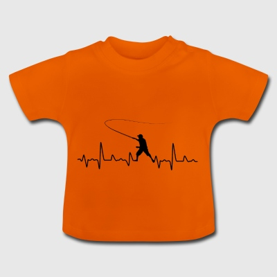 Fishing Heartbeat Gift - Baby T-Shirt