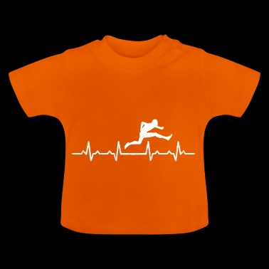 Hurdles race heartbeat - gift sport hobby - Baby T-Shirt