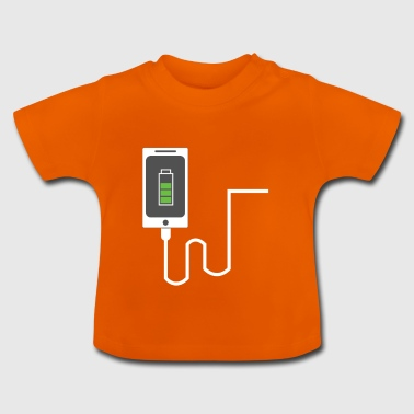 Partnerlook mobiele partner BFF Battery Liefde Deel 1 - Baby T-shirt