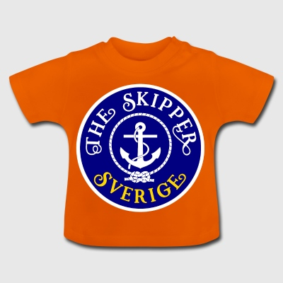 Sailor Skipper Sailing Sweden Anchor Boat Yacht - Baby T-Shirt