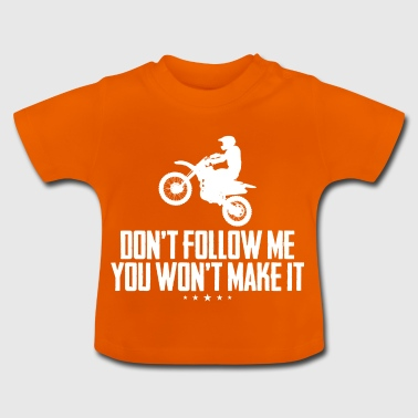 Motorcyclist with spell - Baby T-Shirt
