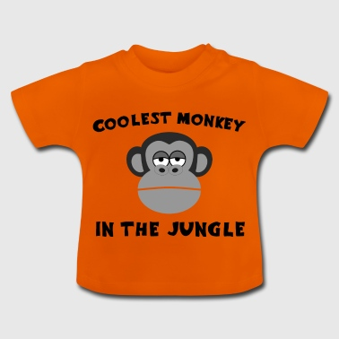 Coolest Monkey in the Jungle Geiler Typ Shirt - Baby T-Shirt
