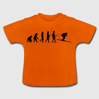 Evolution to the skier T-shirt gift - Baby T-Shirt