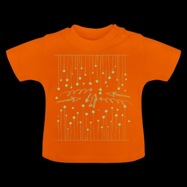 Hanging asterisks with squiggles and arrows - Baby T-Shirt