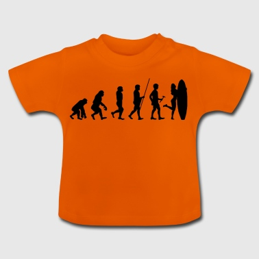 Evolution till surfare t-shirt gåva surfing sport - Baby-T-shirt