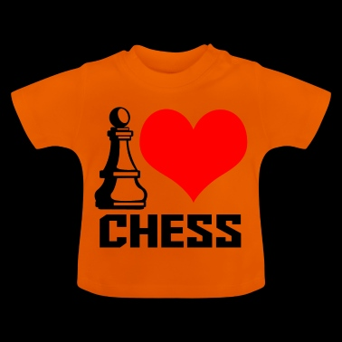 i heart chess - T-shirt Bébé