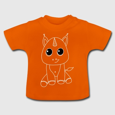 Cute unicorn Cute gift idea animal - Baby T-Shirt