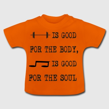 Training und Musik - Baby T-Shirt