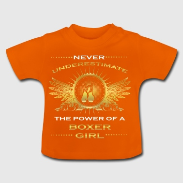 NEVER UNDERESTIMATE GIRL WIFE WOMAN BOXER - Baby T-Shirt