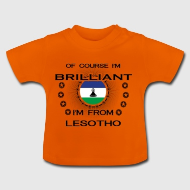 I AM GENIUS BRILLIANT CLEVER LESOTHO - Baby T-Shirt