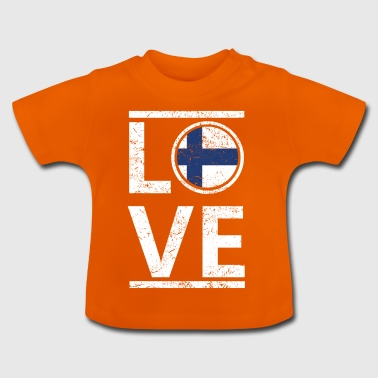 roots love heimat herkunft queen Finnland - Baby T-Shirt