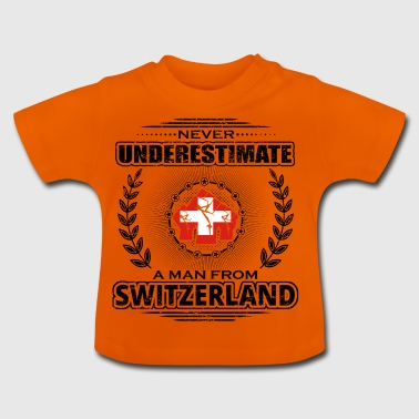 Never underestimate man Roots SWITZERLAND png - Baby T-Shirt