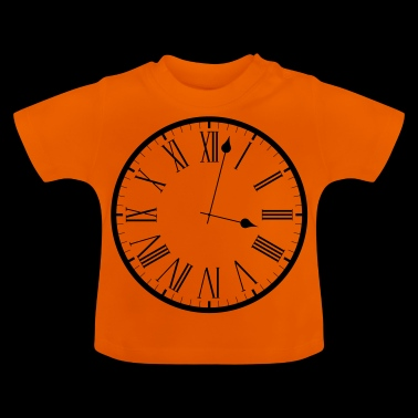 clock Uhr analog - Baby T-Shirt