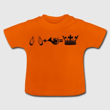 gift i plus hobby king horn french horn 1 - Baby T-Shirt