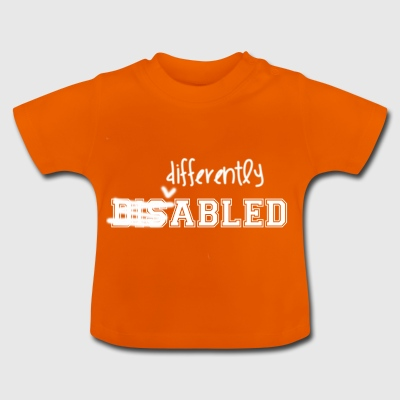 Forskelligt Abled All White Logo - Baby T-shirt