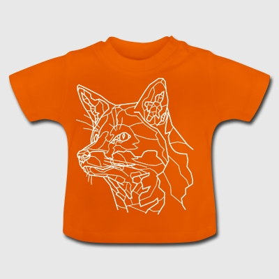Snow Fox Line Art - Baby T-Shirt