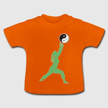 Ying Yang Yoga Girl Sport and Health gave - Baby-T-skjorte