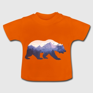 Vildmark i Bear Nature Gift - Baby-T-shirt