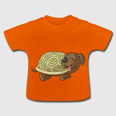 Cute cartoon Dachshund Toad - Baby T-Shirt