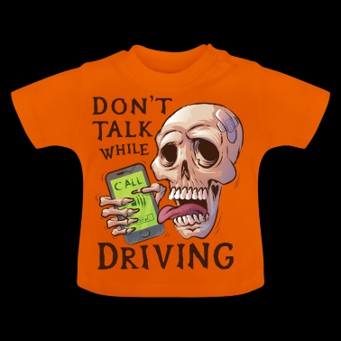 Skull with ringing mobile phone - Baby T-Shirt