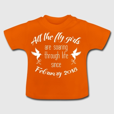 BABY FEBRUARY 2018 BIRTHDAY BABY KOLIBRI GIFT - Baby T-Shirt
