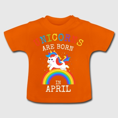 Les licornes naissent en avril Funny Birthday Party - T-shirt Bébé