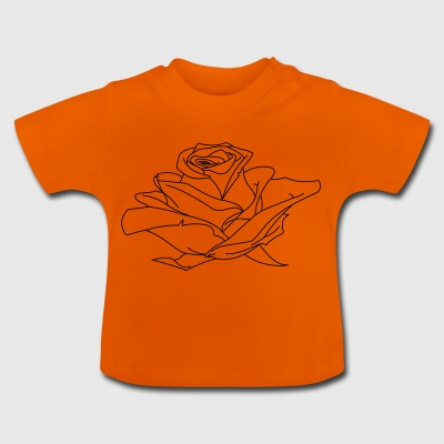 Rose Illustration - Baby T-Shirt
