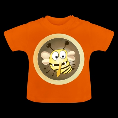 Fleet bee geel - Baby T-shirt
